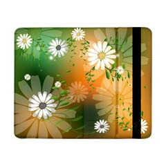 Beautiful Flowers With Leaves On Soft Background Samsung Galaxy Tab Pro 8.4  Flip Case