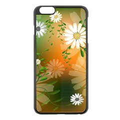 Beautiful Flowers With Leaves On Soft Background Apple iPhone 6 Plus/6S Plus Black Enamel Case