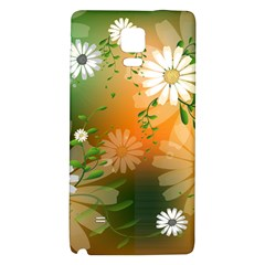 Beautiful Flowers With Leaves On Soft Background Galaxy Note 4 Back Case