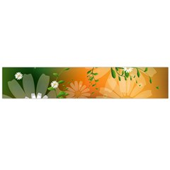 Beautiful Flowers With Leaves On Soft Background Flano Scarf (Large)