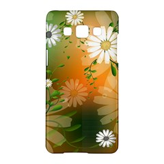 Beautiful Flowers With Leaves On Soft Background Samsung Galaxy A5 Hardshell Case