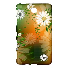 Beautiful Flowers With Leaves On Soft Background Samsung Galaxy Tab 4 (7 ) Hardshell Case