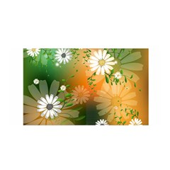 Beautiful Flowers With Leaves On Soft Background Satin Wrap