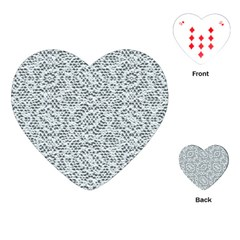 Bridal Lace Playing Cards (heart)