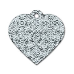 Bridal Lace Dog Tag Heart (Two Sides)