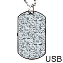 Bridal Lace Dog Tag USB Flash (One Side)
