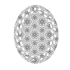 Bridal Lace 2 Oval Filigree Ornament (2-Side)