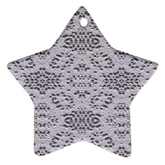 Bridal Lace 3 Star Ornament (Two Sides)