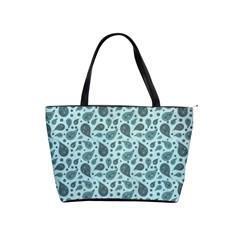 Vintage Paisley Aqua Shoulder Handbags