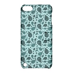 Vintage Paisley Aqua Apple iPod Touch 5 Hardshell Case with Stand