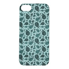 Vintage Paisley Aqua Apple iPhone 5S Hardshell Case