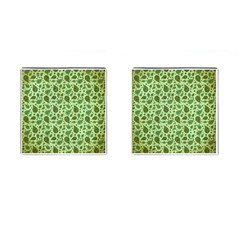 Vintage Paisley Green Cufflinks (Square)
