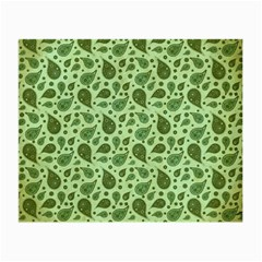 Vintage Paisley Green Small Glasses Cloth (2-Side)