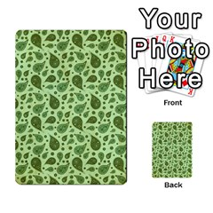Vintage Paisley Green Multi-purpose Cards (Rectangle)