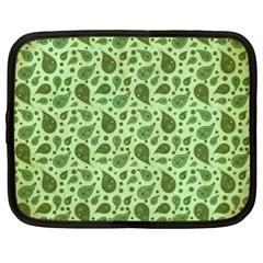 Vintage Paisley Green Netbook Case (XXL)
