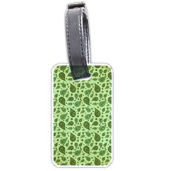 Vintage Paisley Green Luggage Tags (One Side)