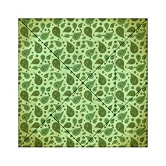 Vintage Paisley Green Acrylic Tangram Puzzle (6  x 6 )