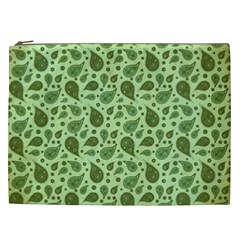 Vintage Paisley Green Cosmetic Bag (XXL)