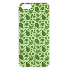 Vintage Paisley Green Apple iPhone 5 Seamless Case (White)