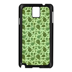 Vintage Paisley Green Samsung Galaxy Note 3 N9005 Case (Black)