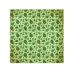 Vintage Paisley Green Small Satin Scarf (square)