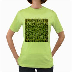 Vintage Paisley Grey Women s Green T-Shirt