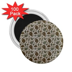 Vintage Paisley Grey 2.25  Magnets (100 pack)