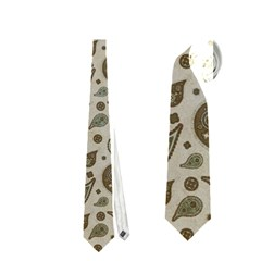 Vintage Paisley Grey Neckties (One Side)