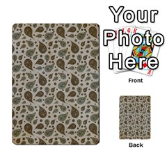 Vintage Paisley Grey Multi-purpose Cards (Rectangle)