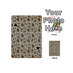 Vintage Paisley Grey Playing Cards 54 (Mini)