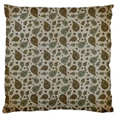 Vintage Paisley Grey Large Cushion Cases (Two Sides)