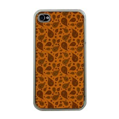 Vintage Paisley Terra Apple iPhone 4 Case (Clear)