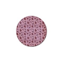 Vintage Paisley Pink Golf Ball Marker (10 pack)