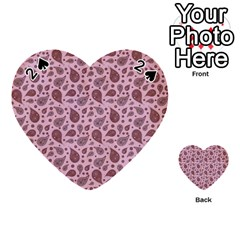 Vintage Paisley Pink Playing Cards 54 (heart)