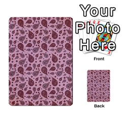 Vintage Paisley Pink Multi-purpose Cards (Rectangle)