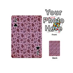 Vintage Paisley Pink Playing Cards 54 (mini)