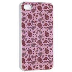 Vintage Paisley Pink Apple Iphone 4/4s Seamless Case (white)
