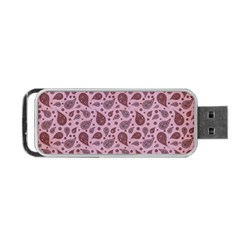 Vintage Paisley Pink Portable USB Flash (One Side)