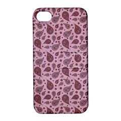 Vintage Paisley Pink Apple Iphone 4/4s Hardshell Case With Stand
