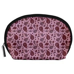 Vintage Paisley Pink Accessory Pouches (Large)