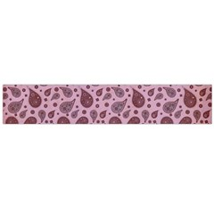 Vintage Paisley Pink Flano Scarf (Large)