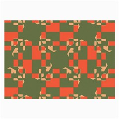 Green orange shapes Large Glasses Cloth (2 Sides)