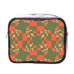 Green orange shapes Mini Toiletries Bag (One Side)