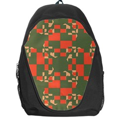 Green orange shapes Backpack Bag