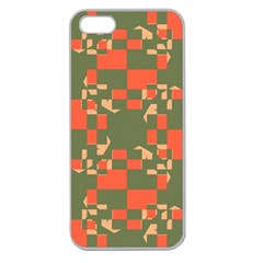 Green orange shapes Apple Seamless iPhone 5 Case (Clear)