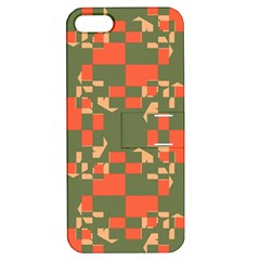 Green orange shapes Apple iPhone 5 Hardshell Case with Stand