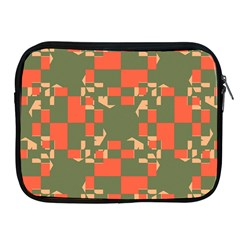 Green orange shapes Apple iPad 2/3/4 Zipper Case