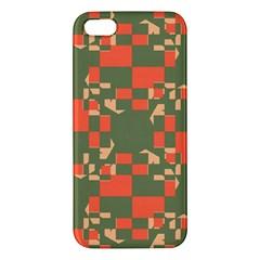 Green orange shapes iPhone 5S Premium Hardshell Case