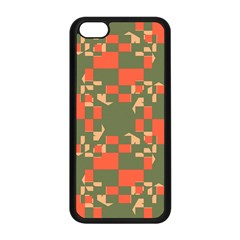 Green orange shapes Apple iPhone 5C Seamless Case (Black)