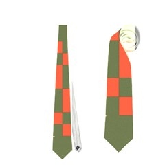 Green orange shapes Necktie